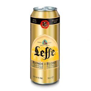 Leffe Bière blonde belge, abbaye de Abdij Van - La canette de 50cl