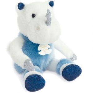 Histoire d'ours Peluche Rhinou le rhinocéros Happy Family bleu (25 cm)