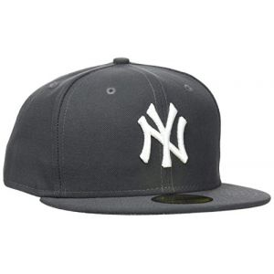 A New Era Casquette 59FIFTY Ny Gris Anthracite / Blanc