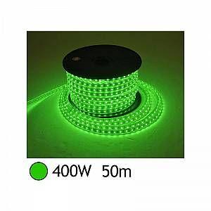 Vision-El BOBINE LED 5050 50 M 8W/M 230 V IP65 VERT + ALIM