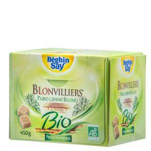 Béghin Say Sucre blond de canne blonvilliers bio morceaux 450g