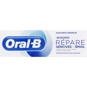 Oral-B Dentifrice repare gencives & email blancheur - Le tube de 75ml