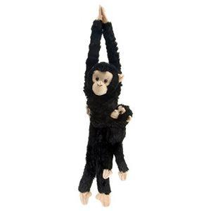 Wild Republic Singe en peluche à suspendre 51 cm Maman chimpanzé avec bébé