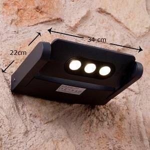 Lutec Spot extérieur KEIRAN à 3 POWER LED