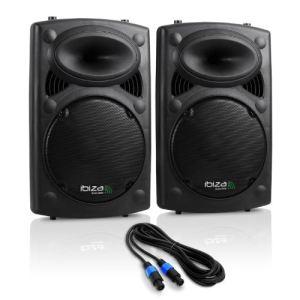 Ibiza Sound SLK12A-USB - Enceinte de sono amplifiée