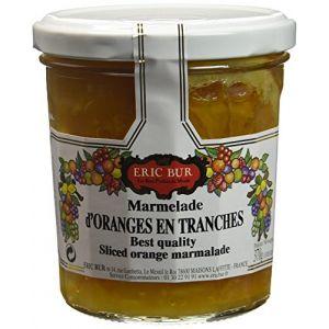 Eric Bur Marmelade Extra d'Oranges en Tranches 370 g - Lot de 3