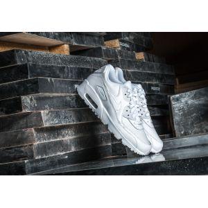 Nike Air Max 90 Leather (GS), Baskets Garçon, Blanc (White/White), 38.5 EU