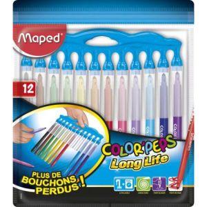Maped Long Life Innovation 845044 Lot de 12 Feutres