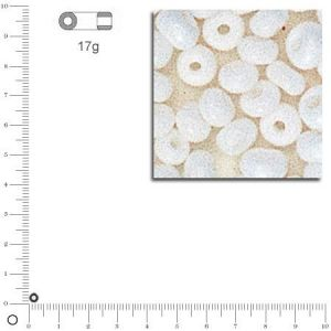 Rayher Perles de rocaille opaques - 2.6 mm - 17 g - blanc