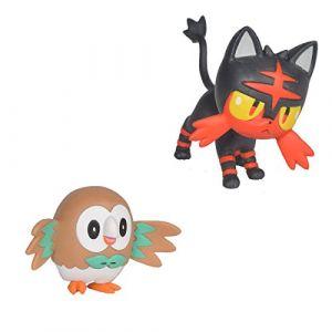Bandai POKEMON - Pack de 2 figurines 5 cm Brindibou et Flamiaou