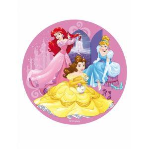 Dekora Generique - Disque en Azyme Princesses Disney 20 cm