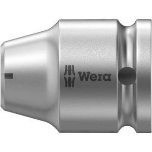 Wera Raccord à prise de force à 6 pans 1/4'' entraînement à 4 pans 1/2'' avec segment d'arrêt, Long. totale : 35 mm -