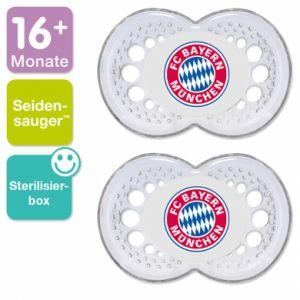 Mam 2 sucettes Football FC Bayern Munich en silicone (16 mois +)