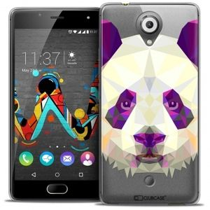 CaseInk Coque Gel Wiko U Feel Extra Fine Polygon Animals - Panda