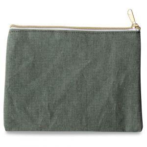 Pochette en tissu vert menthe (21x16cm)