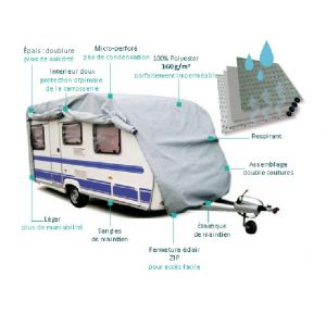 Sumex Housse de protection pour caravane en PVC 645 x 225 x 220 cm