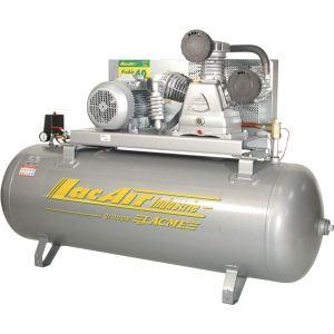 Lacme FixAir 40/300 - Compresseur fixe à courroie triphasé 42 m³/h sur cuve 300 litres (465211)