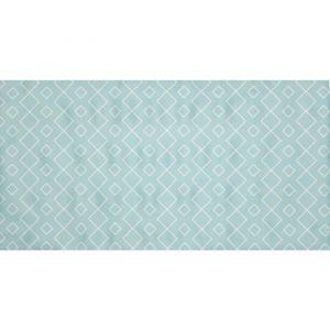 Solys Tapis d'extérieur pour plancha - Vinyle - 80 x 148 cm - Vert lagune