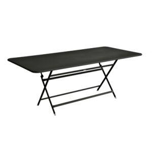 Fermob Table pliante Caractère / 90 x 190 cm - 8 à 10 personnes réglisse en métal