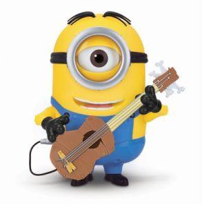 Mondo Figurine parlante Stuart avec sa guitare Les Minions