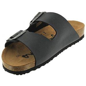 Pepe Jeans Bio man anth 2 boucles - Claquettes mules - Gris Anthracite foncé - Taille 45