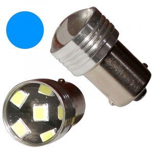 Aerzetix : 2x ampoule P21W R5W R10W 12V 6LED SMD bleu base 1156