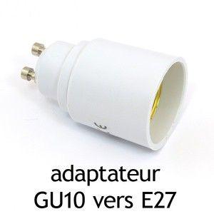 Vision-El Adaptateur culot GU10 vers E27 -