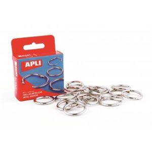 APLI 00455 - Boîte de 10 anneaux métalliques articulés Ø 46 mm