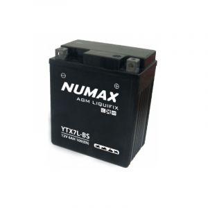 Numax Batterie moto Premium AGM avec pack acide YTX7L-BS 12V 6Ah 100A