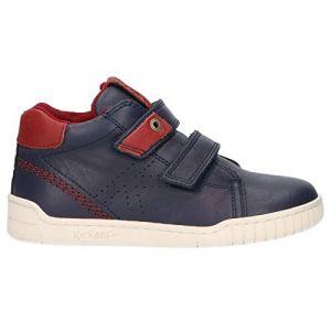 Kickers Wip, Sneakers Haute Garçon, Marine, 36
