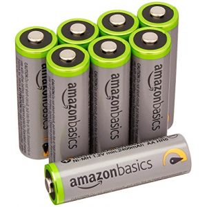 Amazon Basics Lot de 8 piles Ni-MH rechargeables Type AA 500 cycles 2500 mAh/minimum 2400 mAh (design variable)
