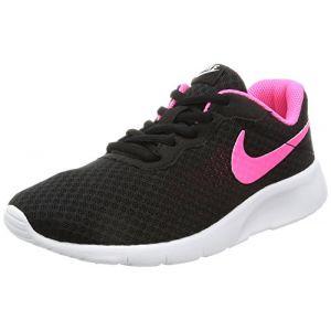 Nike Tanjun (GS), Baskets Fille, Noir (Black/Hyper Pink-White), 38 EU