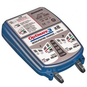 TecMate Chargeur de batterie OPTIMATE 3x2 12V 2>50Ah