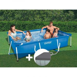 Intex Kit piscine tubulaire rectangulaire 3,00 x 2,00 x 0,75 m + bâche de protection