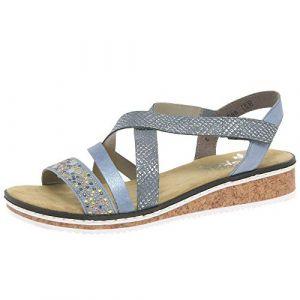 Rieker Damen-Sandalette Blau 910824-5, Grösse 36