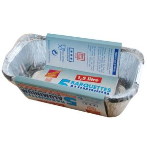 Elbe 5 barquettes en aluminium avec couvercle (1,5 L)