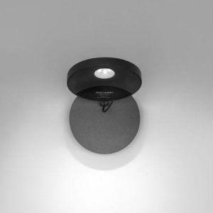 Artemide DEMETRA - Applique Orientable LED Gris avec interrupteur Ø13cm - Applique designé par Naoto Fukasawa