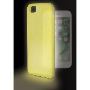 KSIX Coque de protection brillant Sense Lumen pour Iphone 7 Jaune - Coque de protection amusante illuminant - Antidérapant: améliore la prise de votre appareil - Protection contre les rayures et anti-poussière - Accès aux connecteurs et caméras de votre s