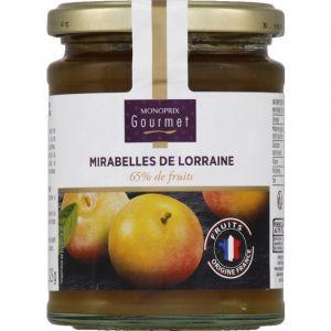Monoprix gourmet Confiture aux mirabelles de Loraaines, 65% de fruits