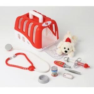 Klein 4831 - Mallette vétérinaire avec accessoires et chien en peluche