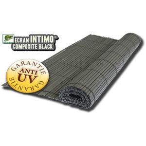 Euro Castor Green Canisse occultant en PVC noir 1,5 x 3 m