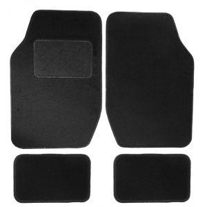HVD 4 tapis de voiture universels moquette noir