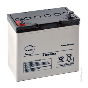 Nx Batterie plomb etanche gel G 12V-50Ah 12V 50Ah F-M6 - Batterie(s)