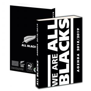 Agenda scolaire journalier carton souple garçon 12x17 cm ALL BLACKS 2018-2019
