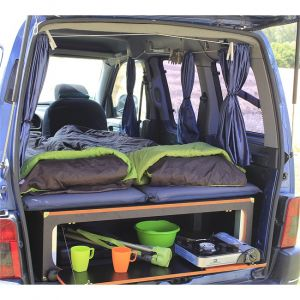 Campinambulle Campi-couchette 110 pour 2 personnes équipée du pack voyage Grand Confort