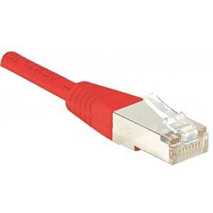 Dexlan 854255 - Cordon réseau RJ45 patch FTP Cat.5e croisé 50 cm