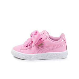 Puma Basket Heart Patent PS, Sneakers Basses Fille, Rose (Prism Pink-Prism Pink 3), 33 EU