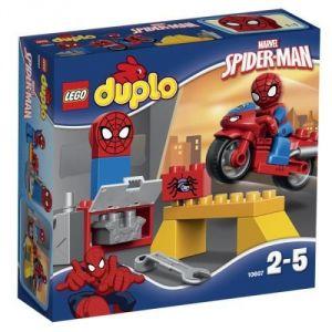 Duplo 10607 Super Héros : l'atelier de la moto araignée de Spider-Man
