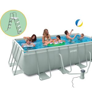Intex 28350fr piscine hors sol tubulaire rectangulaire - Piscine rectangulaire hors sol intex ...