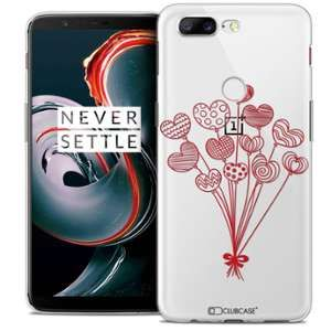 CaseInk Coque OnePlus 5T (6 ) Extra Fine Love Ballons d'amour